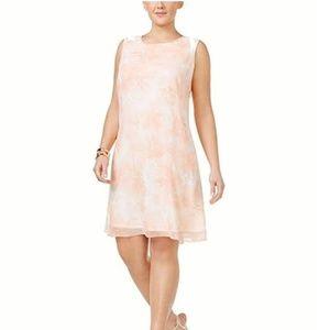 NWT Calvin Klein Floral Print Sleeveless Dress